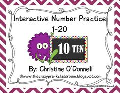 Here is a set of 20 worksheets, one for each number 1-20.  Each page includes number writing, number word writing, number order practice, tallying, color the correct number of objects and cut/paste the number word. These are great for seat work, math centers and group teaching.