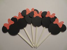 Minnie Mouse Cupcake Toppers by MKScrapAndParty on Etsy, $9.00