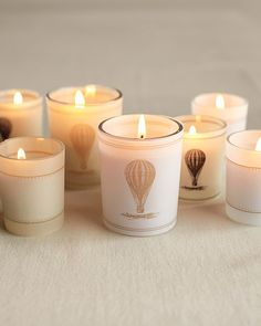 So Neat! - Vintage-Style Hot-Air Balloon Candle-Wraps Clip Art and How-To - Martha Stewart Weddings Inspiration Air Ballon, Hot Air Balloon, Balloon Party, Balloon Crafts, Diy Candles, Candle Jars, Candle Holders, Candle Craft, Floating Balloons