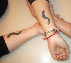 Michael Jackson silhouette tattoo.