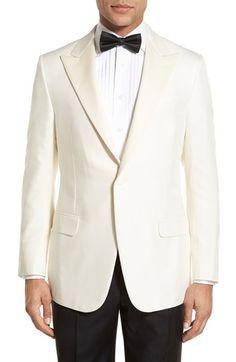 Hickey Freeman Classic Fit Silk Dinner Jacket