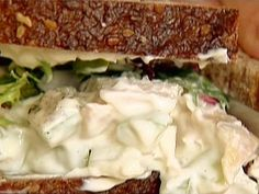 Chicken Salad Sandwiches  109 Reviews  	  Recipe courtesy of Ina Garten    Get Chicken Salad Sandwiches Recipe from Food Network