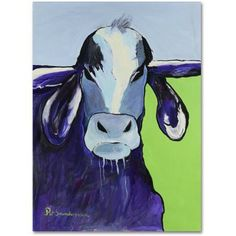 Trademark Fine Art Bull Drool Canvas Art by Pat Saunders-White, Size: 24 x 32, Black