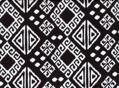 Printed Ponte Aztec Squares Black and White