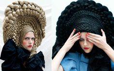Un chapeau en cheveux, Ateliers Boisbuchet CuldeSac et Studio Marisol