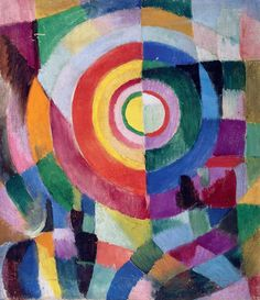 Sonia Delaunay, Electric Prisms no.41, 1913-1914, Tate Modern