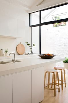 White kitchen, wood, black | By Australian stylist Made by Cohen