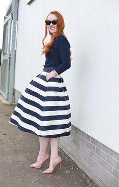 Louche Luxe Kienna Matt Satin Skirt with Christian Louboutin Pigalle Pumps and Collectif bardot sweater