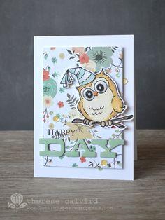 Lostinpaper - Happy Day Birthday Whoot AI - card