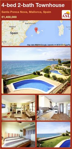 4-bed 2-bath Townhouse in Santa Ponca Nova, Mallorca, Spain ►€1,400,000 #PropertyForSaleInSpain