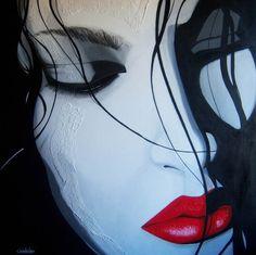 Gioia Cordovani- Regenbogen - Art & Books Painting People, Woman Painting, Fantasy Art Women, Social Art, Theatre Costumes, Beautiful Lips, Classy And Fabulous, Surreal Art, Dark Art