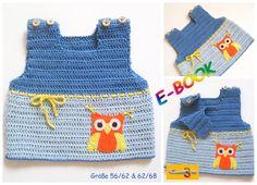 """Häkelanleitungen - E-BOOK Häkelanleitung: Baby Pullunder """"EULE"""" - ein Designerstück von onmyway bei DaWanda Crochet Baby, Knit Crochet, Häkelanleitung Baby, Unisex Baby, Baby Items, Knitting, Babies, Ideas, Fashion"""