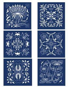 Chinese Indigo Designs - dover