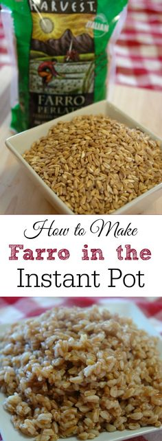 Farro is a delicious ancient grain high in fiber and protein. Learn how to make it in 10 minutes in the Instant Pot. #VillageHarvestVariety #ad