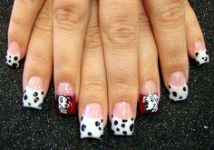 Hand Painted Disney 101 Dalmatians Nails!
