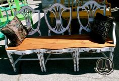some of the best chair benches I've seen!  If you are in LA, you MUST go see these at the Melrose Trading Post