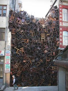 Pile of old #chairs