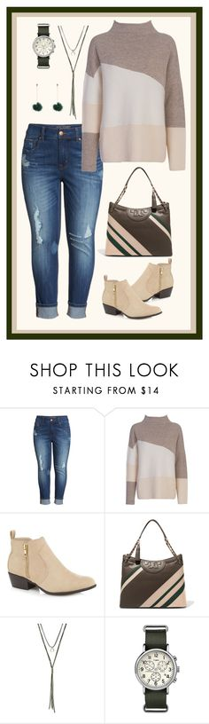 """""""Geen titel #470"""" by miriam-witte ❤ liked on Polyvore featuring Melissa McCarthy Seven7, French Connection, Red Herring, Tory Burch, Gen Tribe and Timex"""