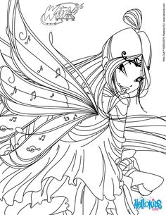 Musa, transformation Bloomix coloring page