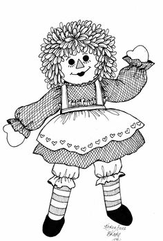 474 best black and white art and color pages images in 2019 Future Homes ragdoll humming belles raggedy ann white art coloring books coloring pages