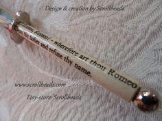 Libro libro-frammento di Shakespeare Romeo di Scrollbeads su Etsy