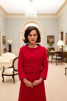 See Natalie Portman and Jackie Kennedy Stand Side-By-Side in the Same Red Suit