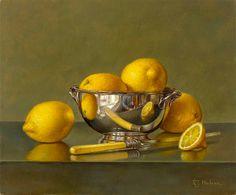 Roy Hodrien - Lemons in a Silver Bowl, 2011
