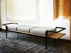 - Gastone Rinaldi, italian designer | curved tubular steel and wood #furrina #designyourlife #interiordesign #italiandesign #furniture #coatch #sofa