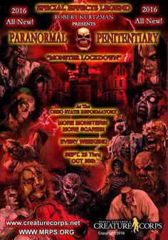 "Mansfield, Ohio - ""Paranormal Penitentiary: Monster Lockdown"" coming Halloween 2016 Halloween Items, Halloween Fun, Mansfield Reformatory, Spirit World, Paranormal, Prison, Mansfield Ohio, Awesome Things, Destinations"