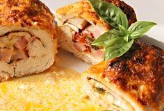 Obalené plněné řízky zapečené v pekáčku (3 variace náplní) Poultry, Entrees, Ale, Food And Drink, Cooking Recipes, Meat, Chicken, Baking, Ethnic Recipes