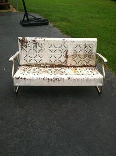 Vintage Porch Glider  -- I absolutely love this, I adore gliders...