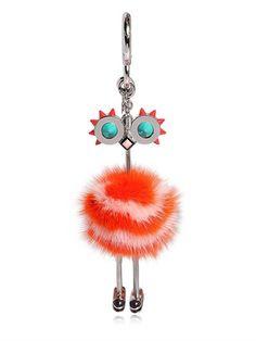 Fendi Fur-embellished bag charm JILvgjTAP