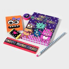 Go bold this #backtoschool season with a colorful Happy Monsters Stationery Set