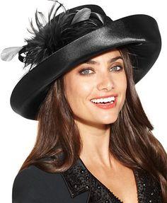 August Hats Excite Romantic Profile Hat Handbags   Accessories - Macy s dfa9d3664ce