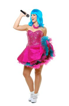potential halloween costume because my prom dress is a bright pink