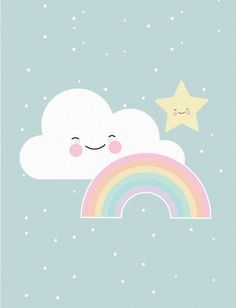 Eef Lillemor poster rainbow A3