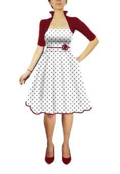 Retro Rockabilly polka dot Pleat Dress