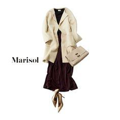 スカートに見えるワイドパンツや旬のふわもこコートで女子ウケ抜群!【2017/12/7コーデ】Marisol ONLINE|女っぷり上々!40代をもっとキレイに。