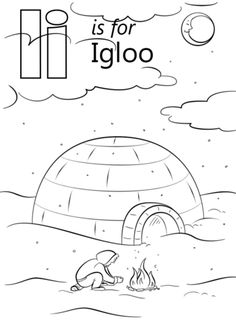 Printables Alphabet E Coloring Sheets See More Letter I Is For Igloo Page From Category Select 27516 Printable