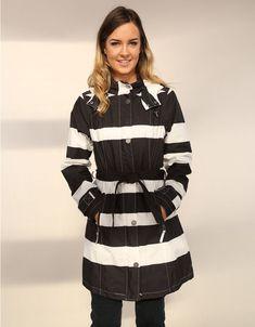 Etage Black & White Coat-1594 111-| Etage Online Ireland