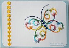 Fadengrafik - Grußkarten - Set mit dem abgebildeten Fadengrafik-Motiv  bestehend aus: 1 Doppelkarte / Klappkarte im Format A6 quer - 10,5 x 14,8 cm 1 passender Briefumschlag (je nach...