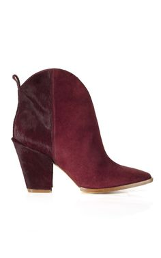 Sigerson Morrison Risaly Bootie in Burgundy/Lipstick