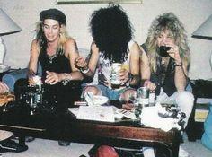 Slash Duff McKagan and Steven Adler