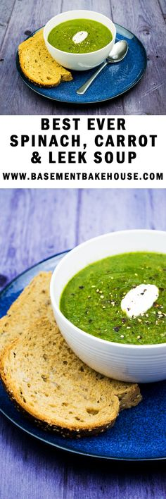 Make this delicious Spinach, Carrot & Leek Soup this winter for a tasty, vegetarian meal prep option! Syn free on Slimming World, it is ideal for your meal plans!