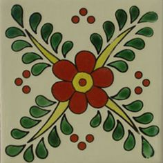 Talavera tile flowers sizes aviable and Pottery Patterns, Tile Patterns, Mexican Flowers, Mexican Folk Art, Mexican Tiles, Mexican Ceramics, Talavera Pottery, Spanish Tile, Stencil Designs