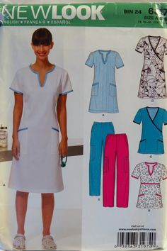 New Look 6817 Misses' Scrubs and Dress