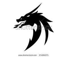 Find Head Dragon Flat Color Logo Template stock images in HD and millions of other royalty-free stock photos, illustrations and vectors in the Shutterstock collection. Dragon Tattoo Art, Logo Dragon, Tribal Dragon Tattoos, Small Dragon Tattoos, Dragon Artwork, Dragon Tattoo Designs, Dragon Icon, Dragon Sketch, Indian Skull Tattoos