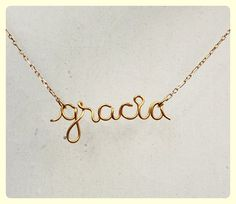 For Claire Personalized Wire Name Necklace Children by Henju