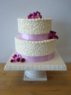Two-tier Wedding Cake by Windy City Cakery