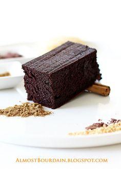 Flourless Chinese Five Spice Chocolate Cake. Gluten free. Nut free.